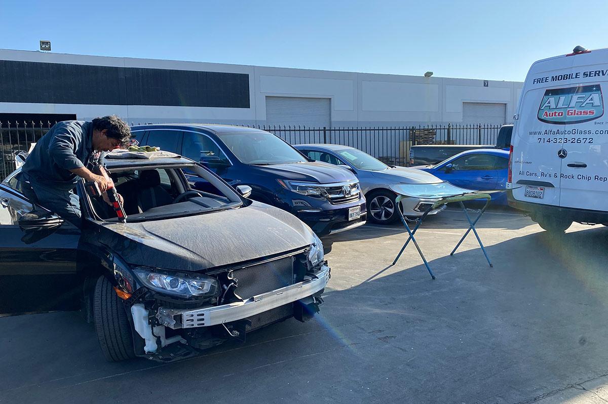 2019 honda civic windshield replacement