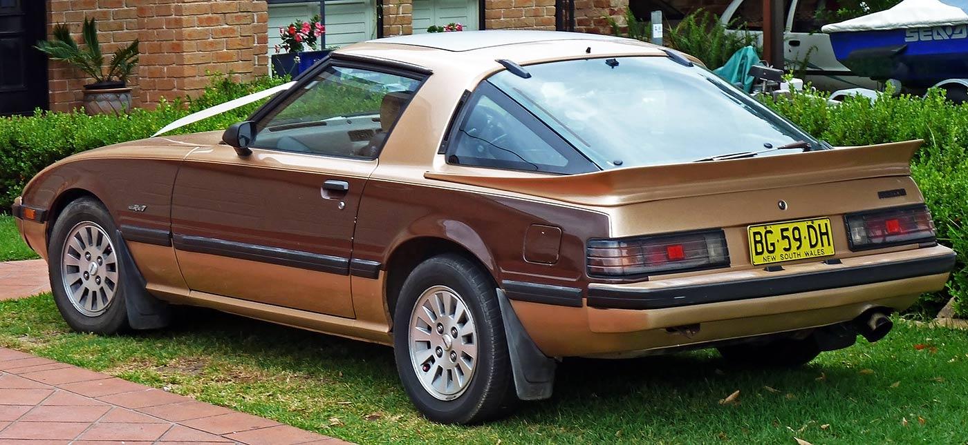 Mazda RX-7 back window