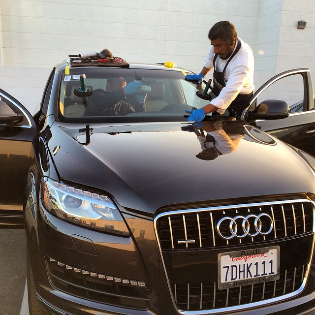 cracked Audi windshield replacement
