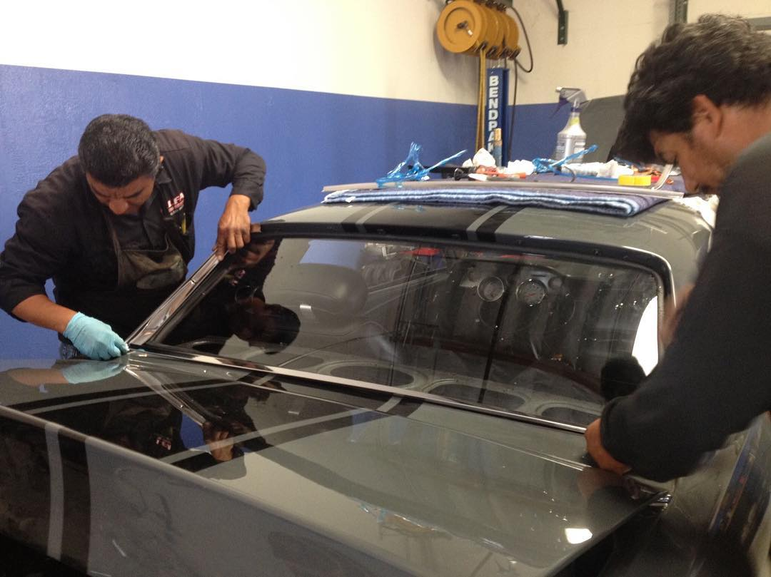 dodge charger rear window replacement