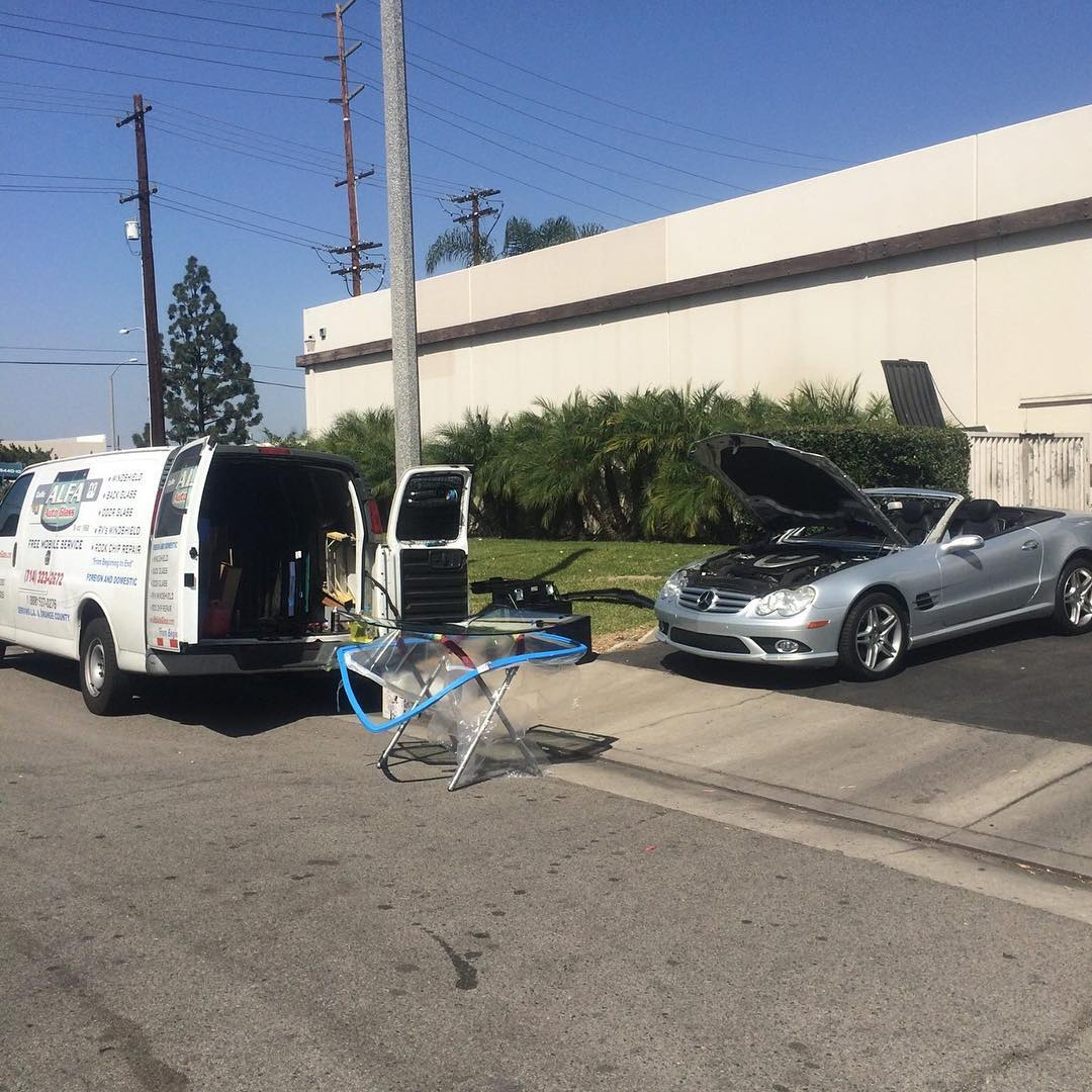 mercedes benz SL55 windshield replacement