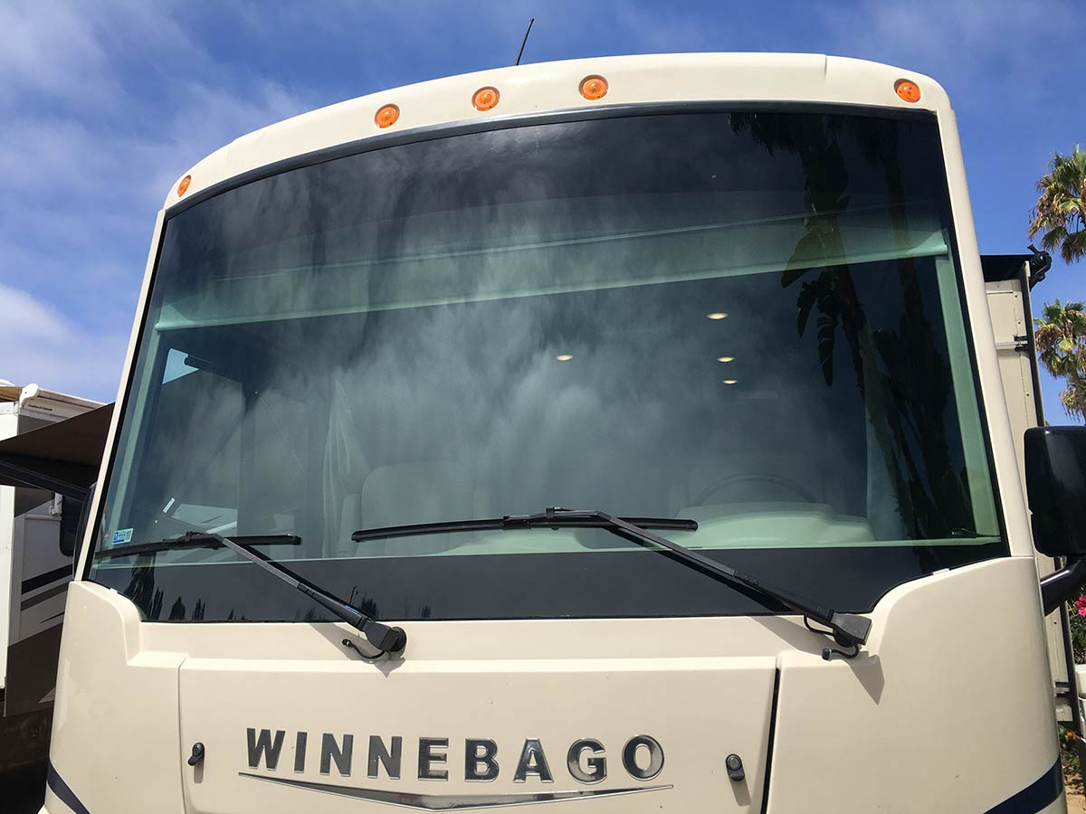 new windshield on winnebago rv