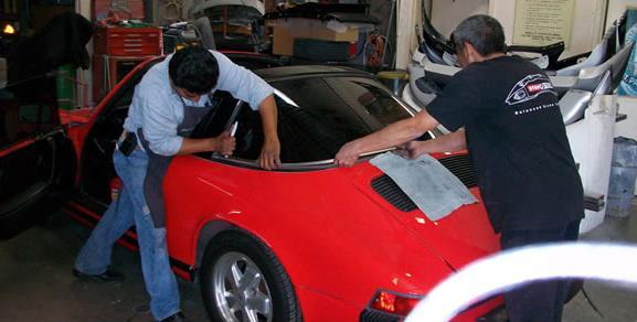 Porsche 911 back window replacement