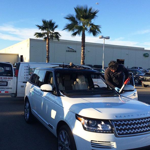 range rover windshield installation