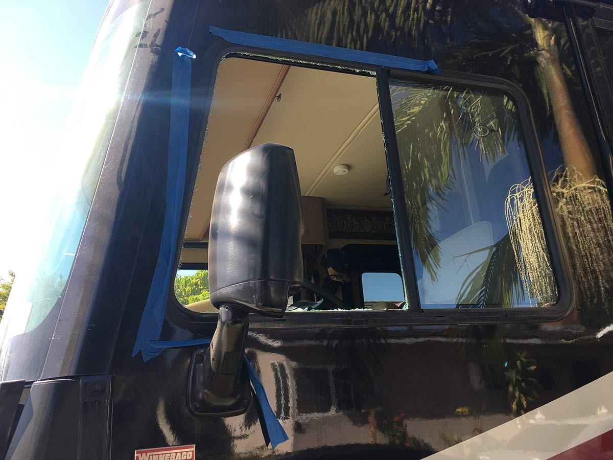 RV driver side window replacement
